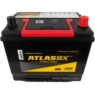 АКБ 60Ah Atlas BX Dynamic Power Calcium+ (MF85-500)  (о.п+) 500А 12V Азия низкий корпус